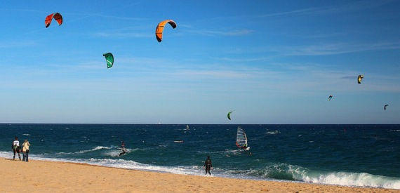 Kiten auf Sardinien