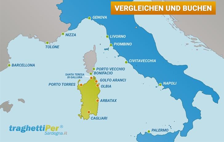 Sardinien Karte Unternehmen
