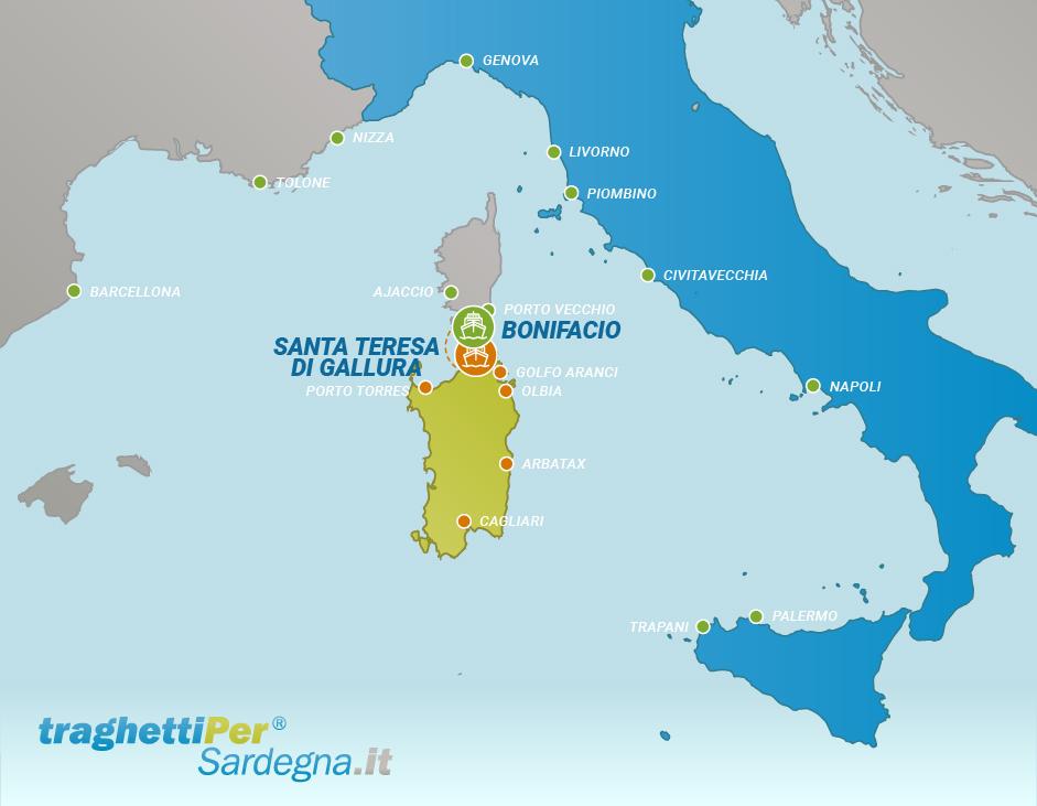 Fahren von Santa Teresa di Gallura nach Bonifacio