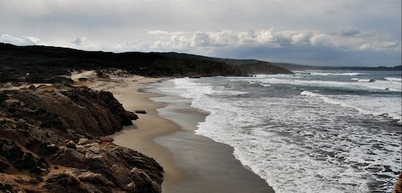 Sardinia beaches winter