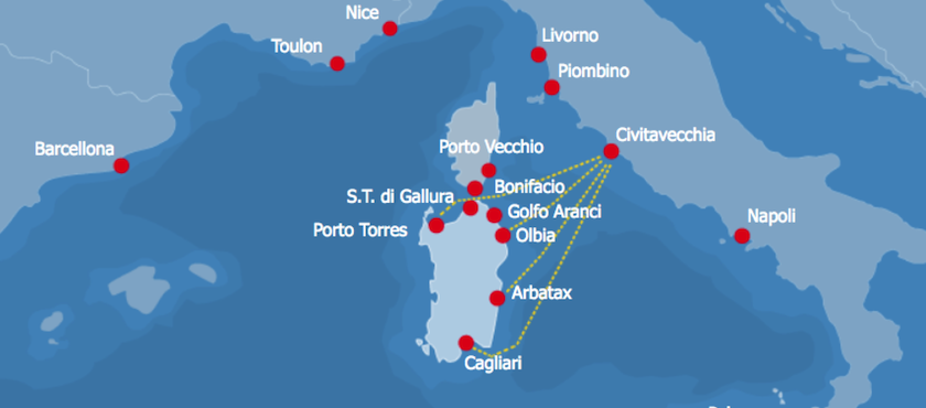 traghetti da Civitavecchia alla Sardegna