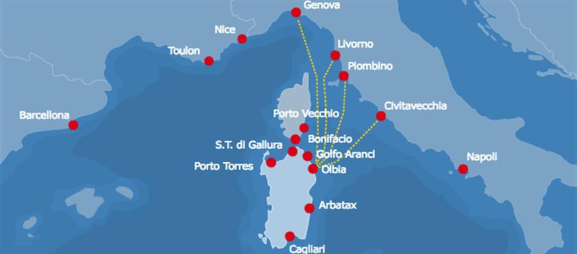 tratte traghetti per Olbia