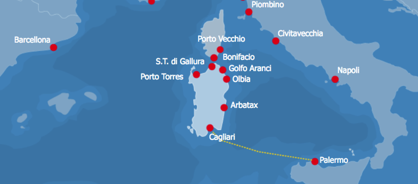 tratte traghetti da Palermo alla Sardegna