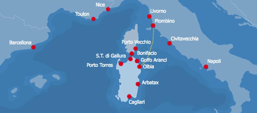 tratte traghetti da Piombino alla Sardegna