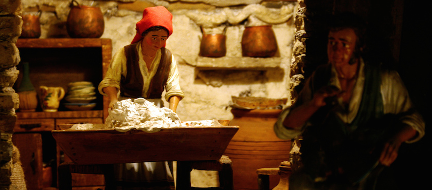 presepe di pane di Olmedo